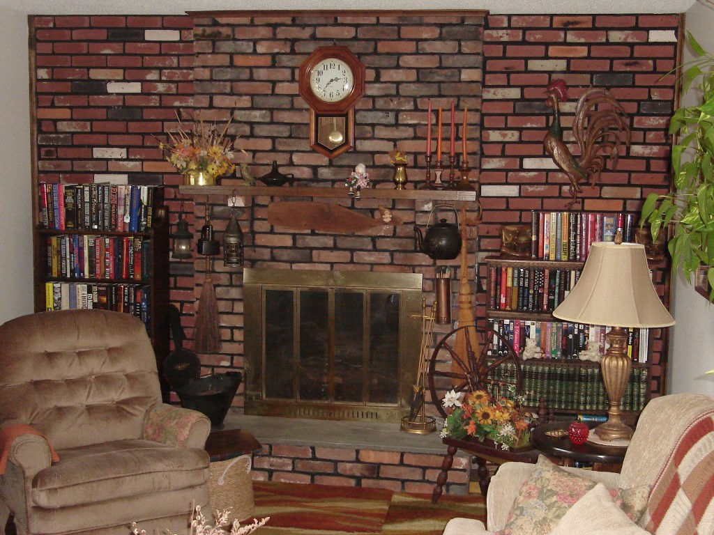 My Raised Hearth Fireplace Makeover | Jim's Blog